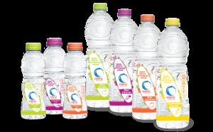 תוויות מודפסות לבקבוקי מים בטעמים